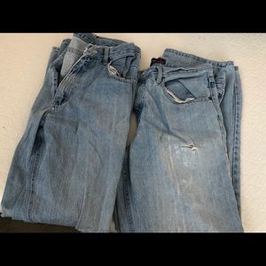 Two pair of ripped jeans Steve & Barry 33x32 32x32